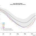 Arctic Summer Sea Ice – Going Down, Down, Down