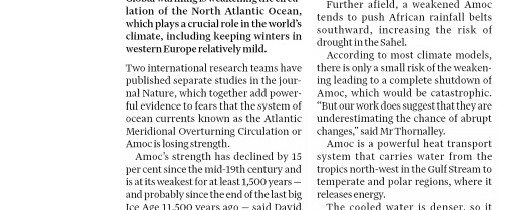 Global warming to give colder winters and hotters summers